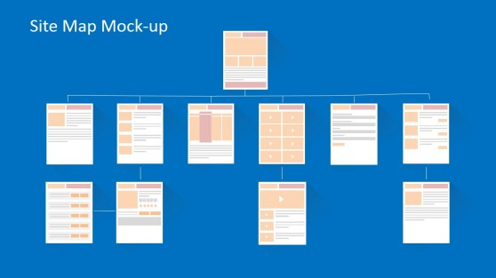 Flat Website Mockup Toolkit For PowerPoint
