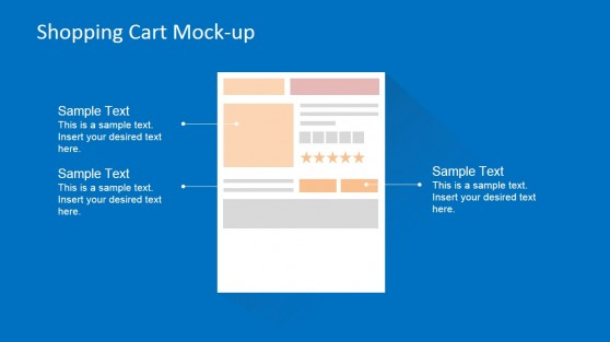 Ecommerce Shopping Cart Page Mock-Up PowerPoint Diagram