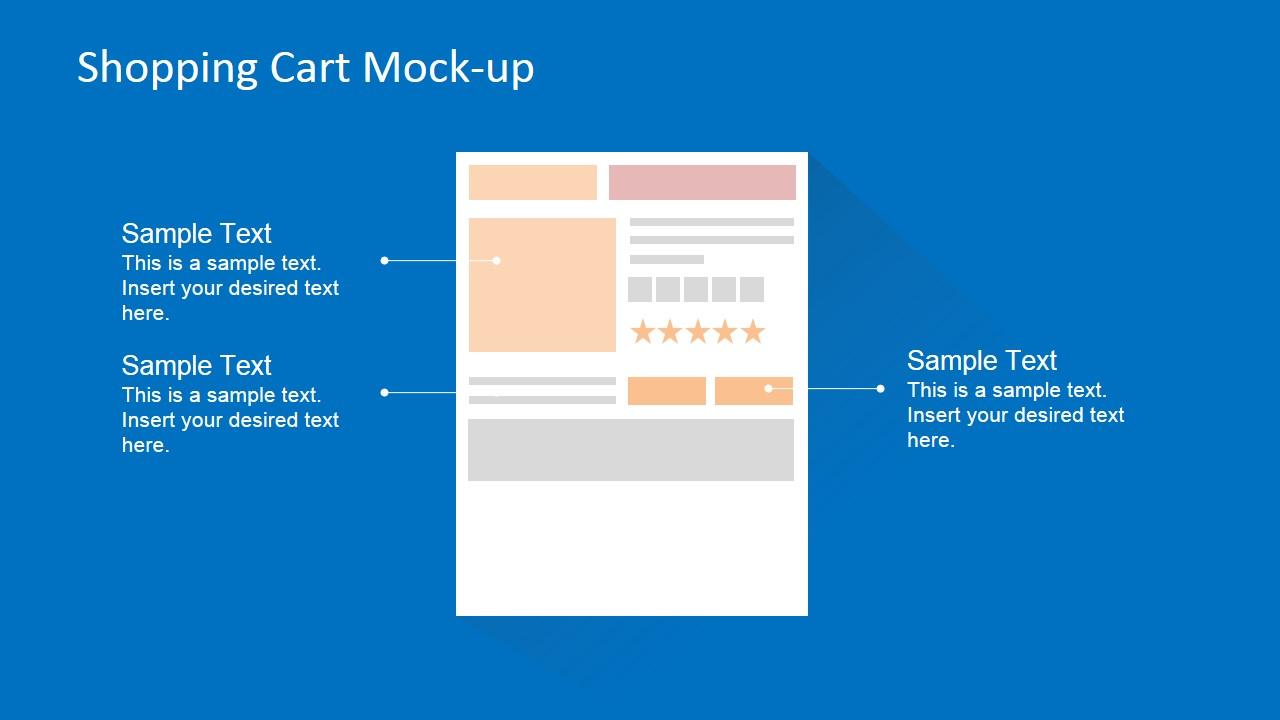 Flat Shopping Cart Blueprint for Ecommerce Site