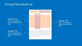 Pricing Plans Page Wireframe Layout for PowerPoint