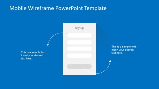 PowerPoint Wireframe Mobile Signup