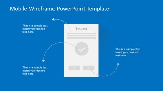 PowerPoint Wireframe Confirmation Success