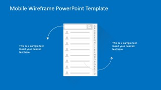 PowerPoint Wireframe of Contact List