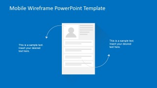 PowerPoint Wireframe of Contact Details Mockup
