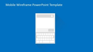 PowerPoint Wireframe of Text Box Typing