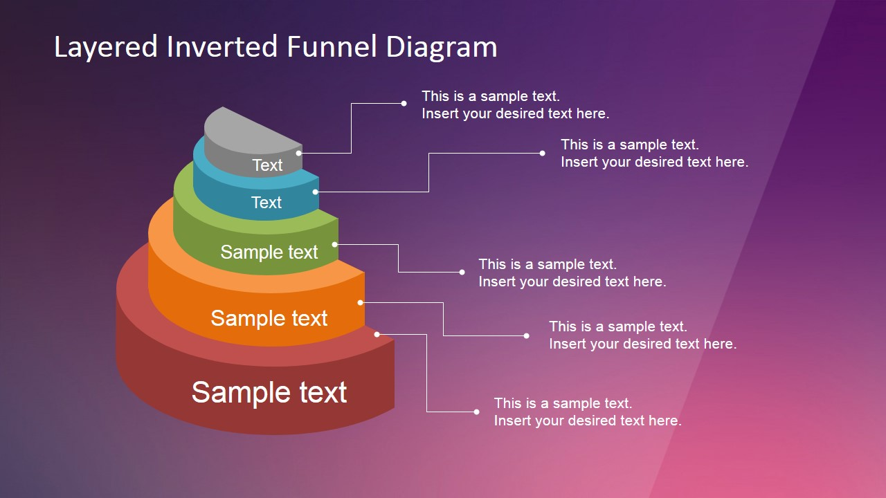 process flow diagram ppt template layered inverted funnel    diagram    slidemodel  layered inverted funnel    diagram    slidemodel