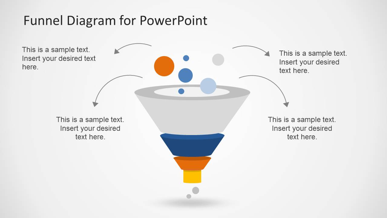 creative funnel diagram template for powerpoint - slidemodel, Modern powerpoint