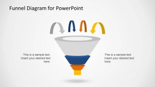 Sales Funnel Diagram Vector for PowerPoint