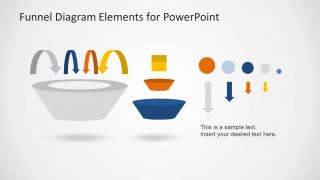 Funnel Diagram Elements for PowerPoint