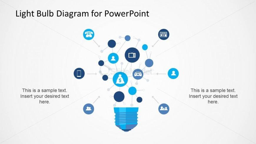 Light Bulb Network Diagram For Powerpoint Slidemodel