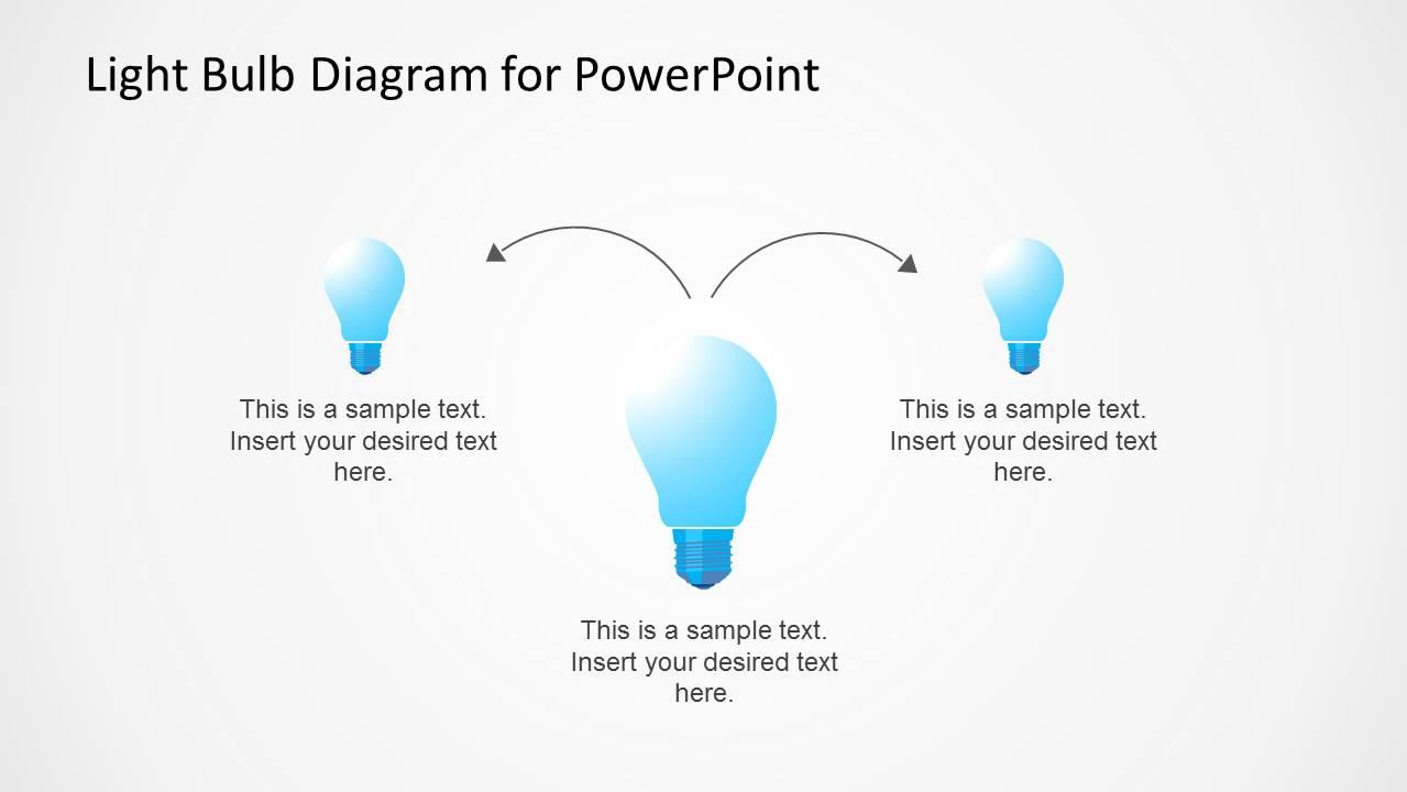 Light Bulb Shapes Diagram Design for PowerPoint