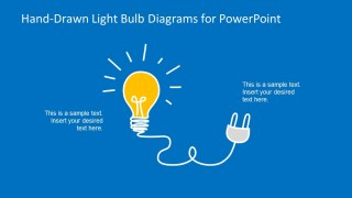 Energy Light Bulb Shape with Plug for PowerPoint