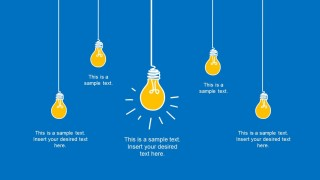 Light Bulb Falling Above the Slide for PowerPoint