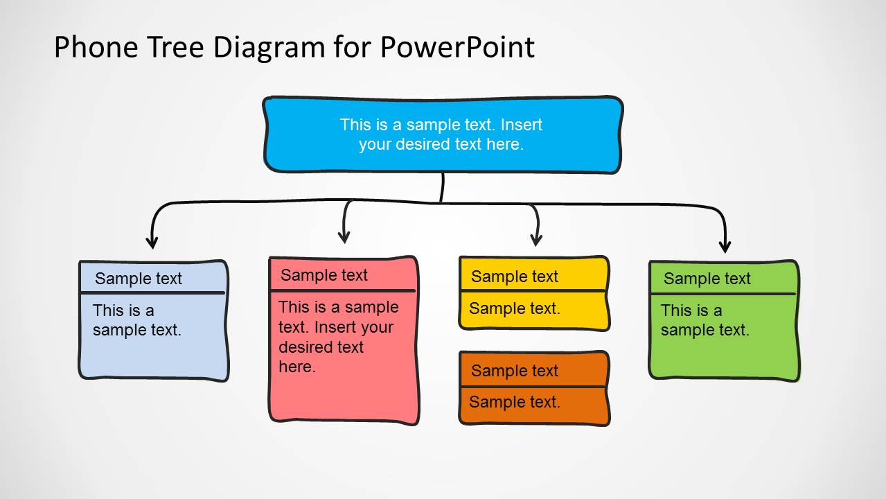 phone tree diagram powerpoint template slidemodel