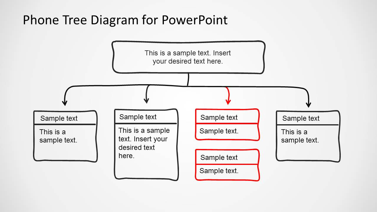 Phone tree diagram powerpoint template slidemodel for Telephone tree template