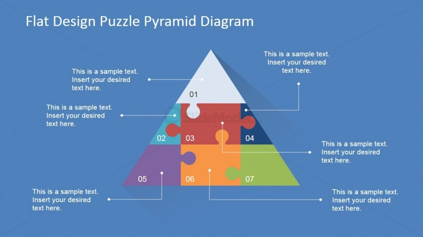 PowerPoint Diagram of Puzzle Pyramid
