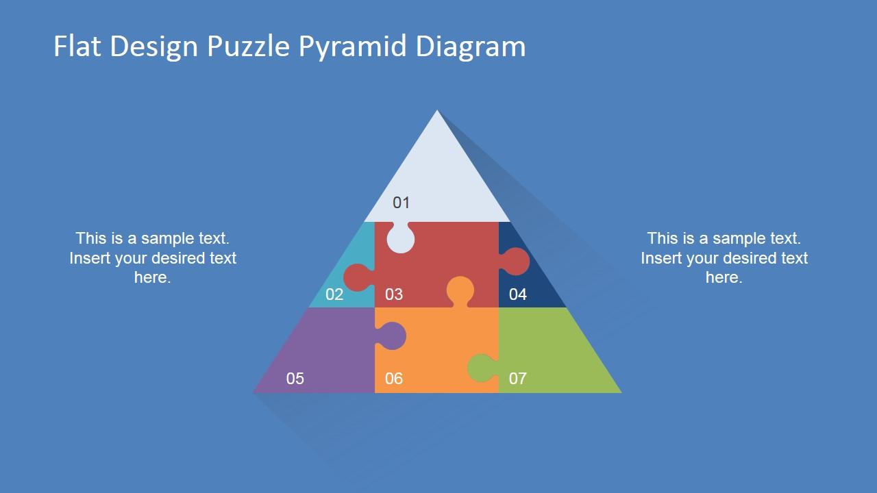 flat design puzzle pyramid diagram