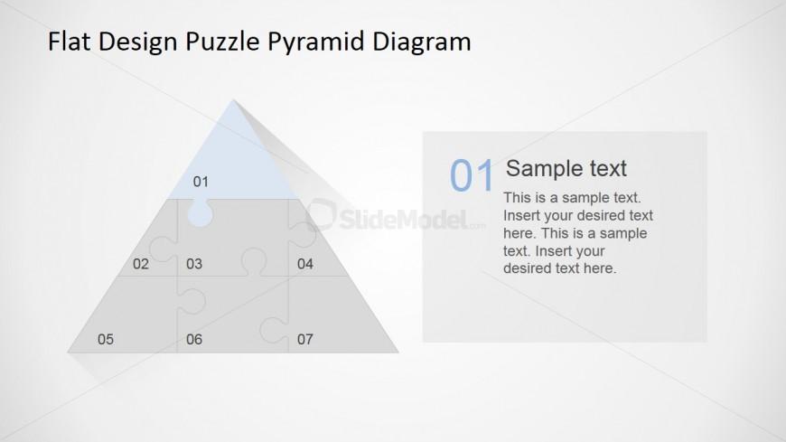 PowerPoint Diagram Top Jigsaw Piece Description