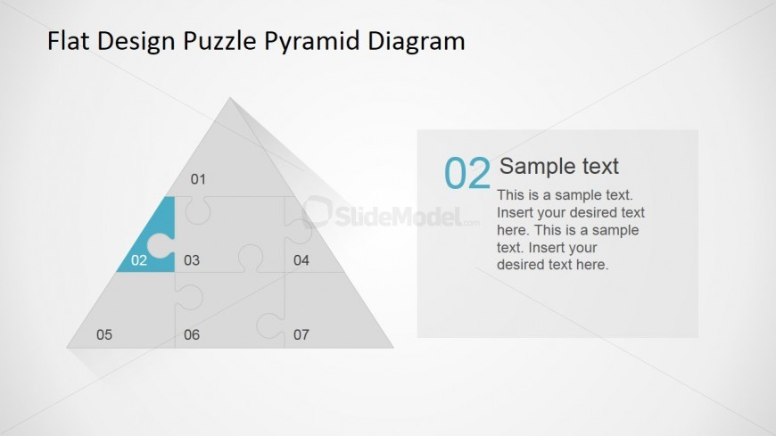 PowerPoint Flat Pyramid Diagram  Puzzle Diagram Step 2