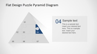 Step 4 Jigsaw Piece Highlight of Flat Puzzle Pyramid