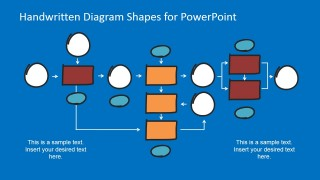 Flat Design Bold Flowchart Shapes for PowerPoint
