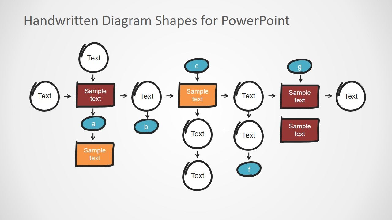 Flat Bold PowerPoint Elements and Connector for PowerPoint