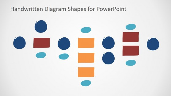 Drag and Drop Tree Diagram Handwritten PowerPoint Shapes