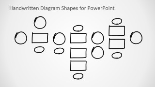 PowerPoint Handwritten Outline Shapes for Flow Charts