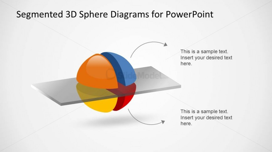 3D Segmented Sphere Diagram Slide Design