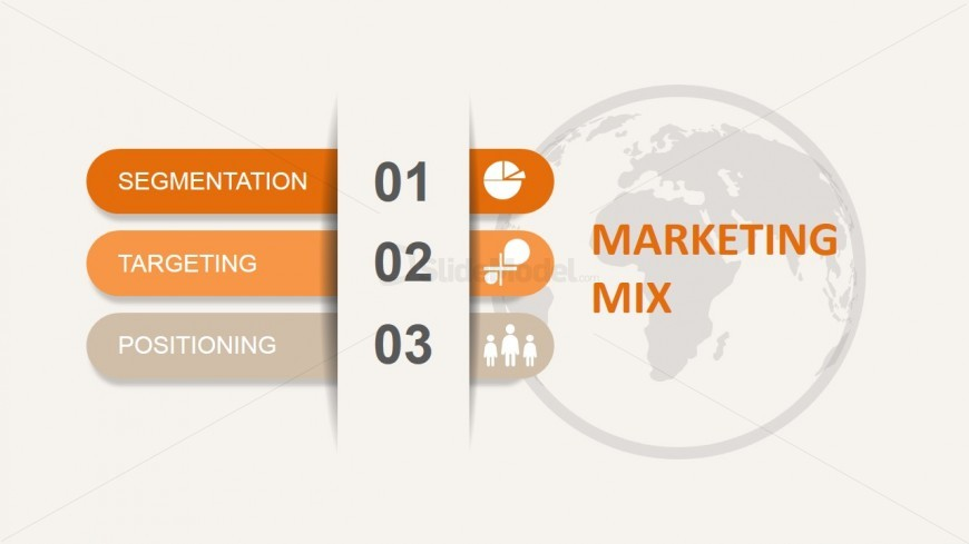 STP Marketing Mix Power Point Model with Globe