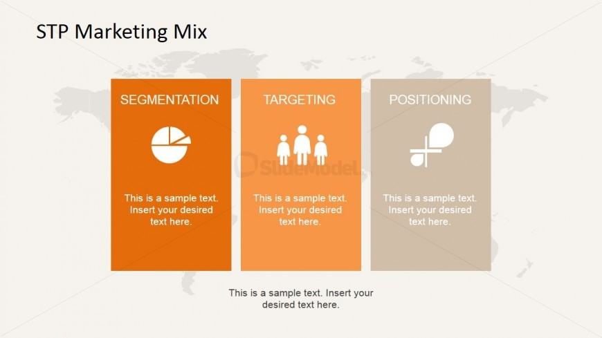 Chronological STP Marketing Mix Template Design