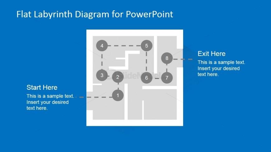 Labyrinth Problem Solving Slide Design for PowerPoint