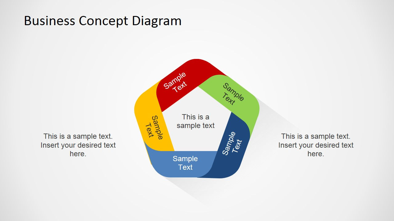 Simple 5 Step Business Concept Slide Design