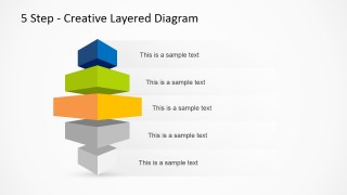 5 Step Creative Layered Diagram for PowerPoint