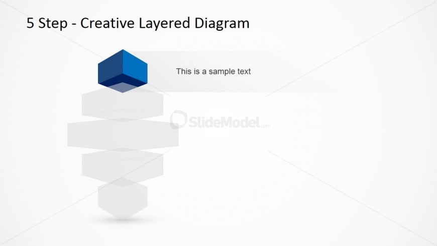 Vertical Layered Diagram Design for PowerPoint 1