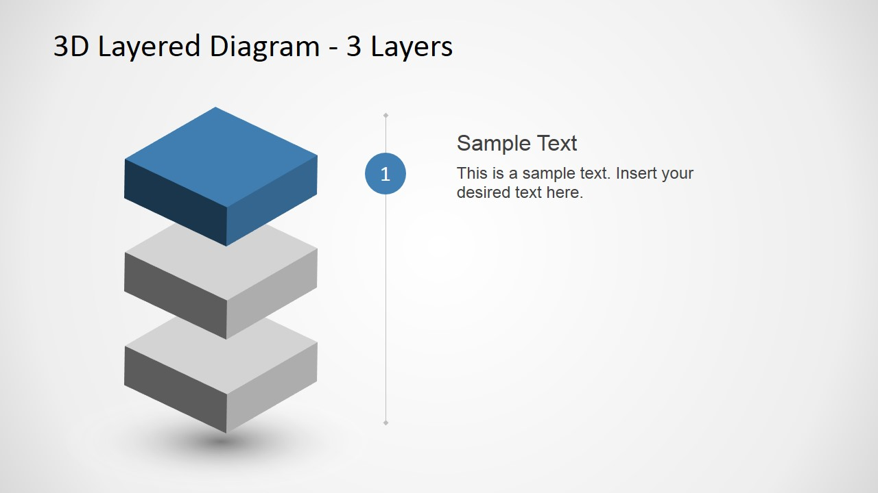 3 Levels 3d Layered Diagram For Powerpoint Slidemodel Process Flow 2010 Previous Next