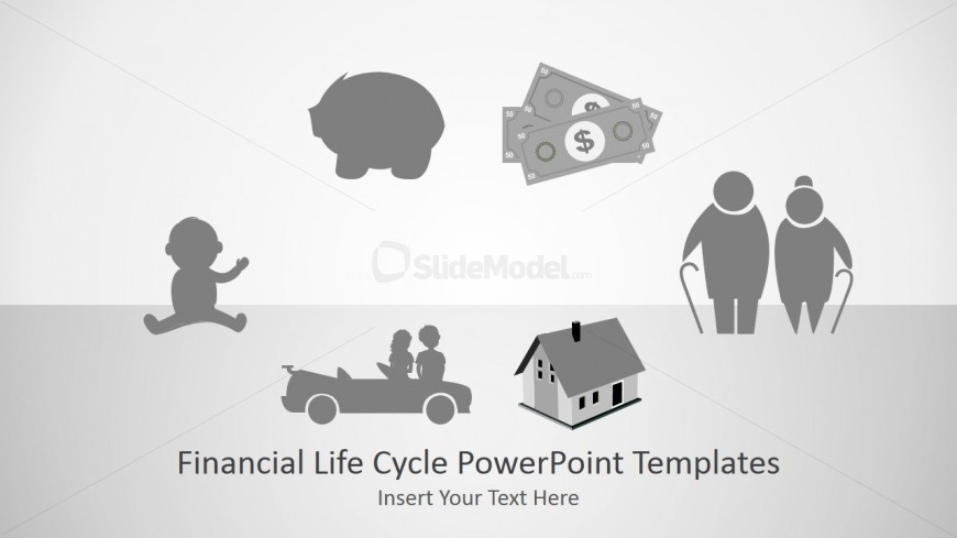The meaning of money in lifes different stages slidemodel powerpoint template for financial life cycle toneelgroepblik Gallery
