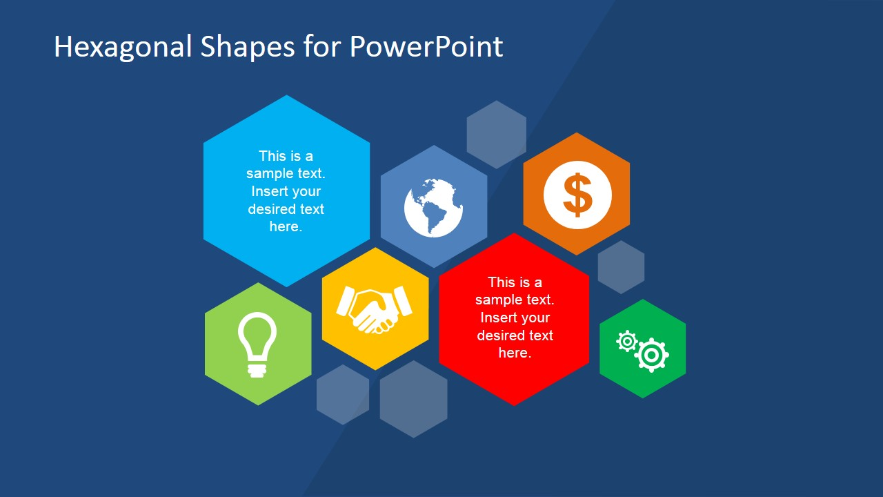 Hexagonal Shapes for PowerPoint