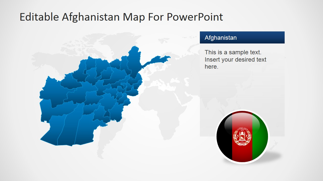 editable afghanistan map for powerpoint