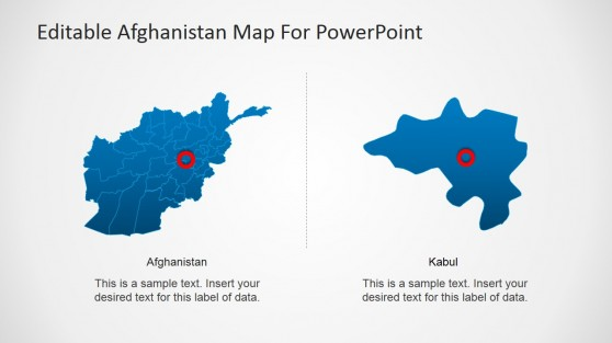 Professional Afghanistan PowerPoint Map and Kabul State