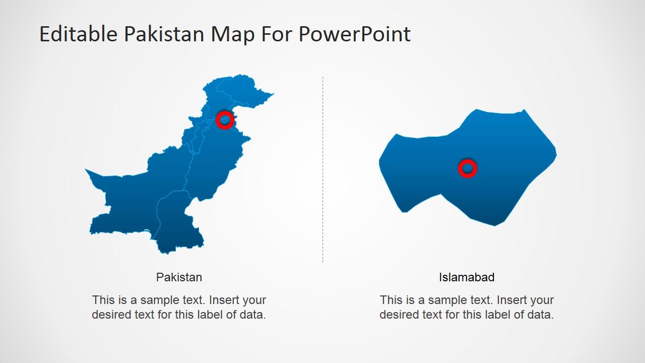 pakistan powerpoint map slidemodel