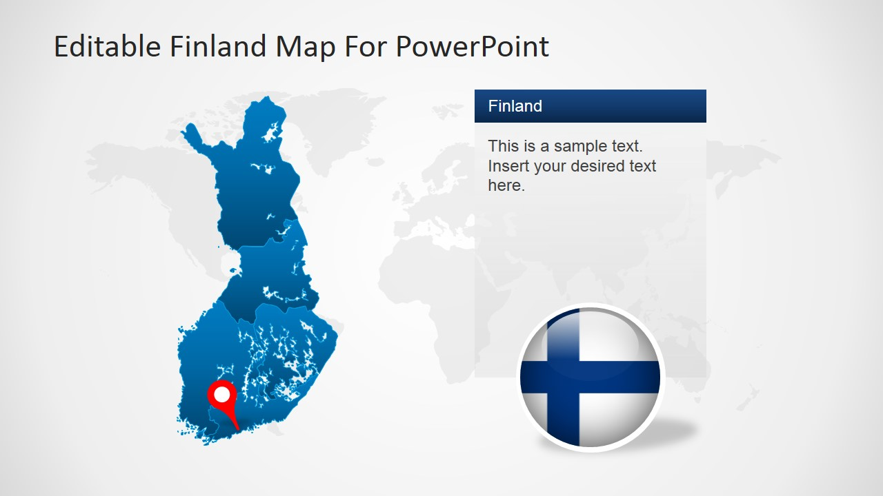 editable finland map template for powerpoint