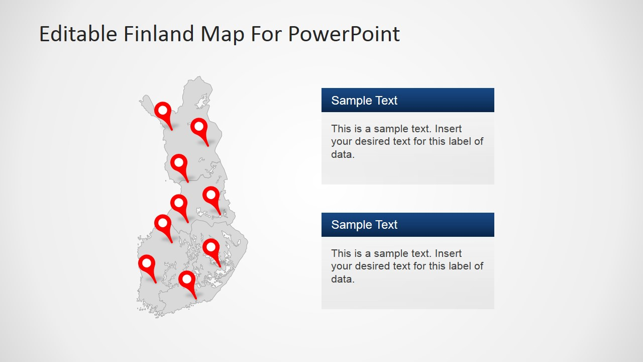 Gray Finland Map Template Design