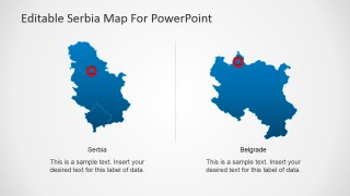 Regional Map of Serbia and Outline Map of Belgrade