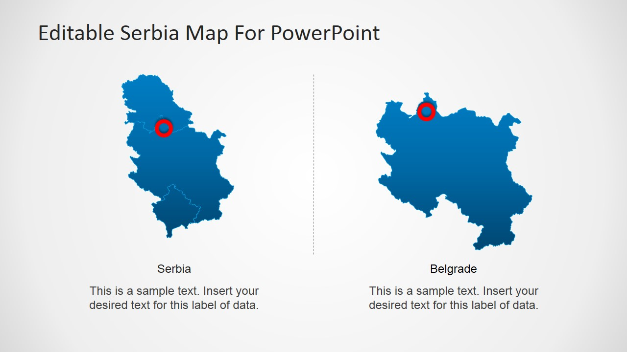 Editable Serbia Map For PowerPoint SlideModel