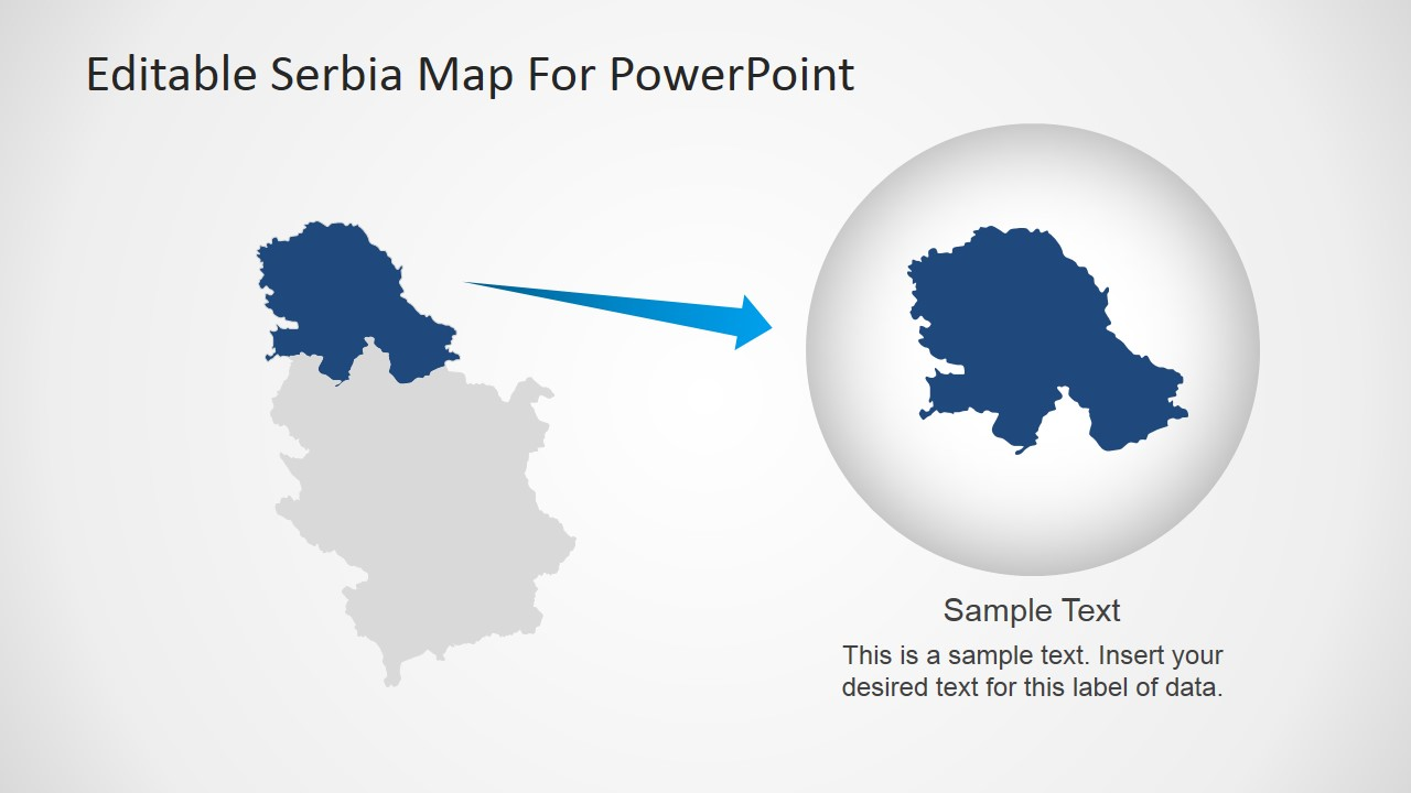 Editable serbia map for powerpoint slidemodel editable vojvodina border map of serbia toneelgroepblik Image collections