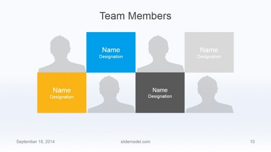 Flat Business Template with Members Slide