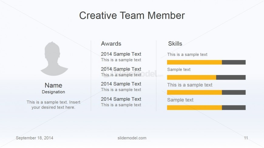 Flat Business Member Awards Slide Design