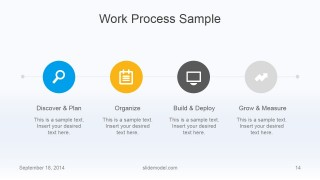 Flat Business Work Process Slide Design