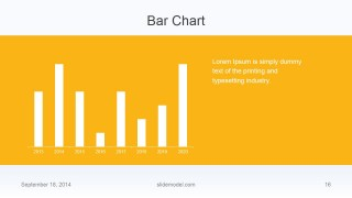 Flat Business Bar Chart Slide Design